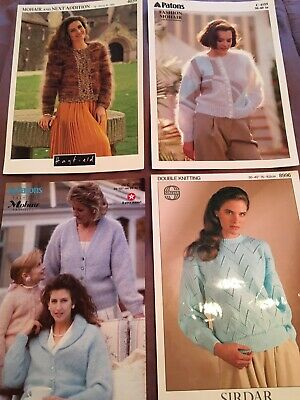 Ladies Mohair & Double Knitting Knitting Patterns • 2£