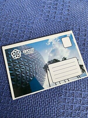 Walt Disney World Epcot Centre 1980s Fold Out Postcards Pack Spaceship Earth • 9.99£