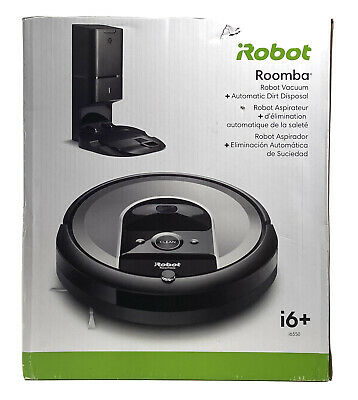 IRobot Roomba I6+ (6550) Robot Vacuum - Automatic Dirt Disposal With Base • 375.50£