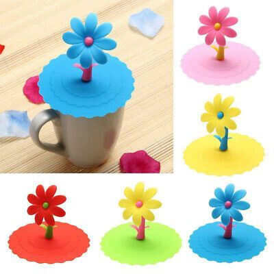 £3.99 • Buy 3 PCS Silicone Cup Lid Glass Drink Cover Anti-dust Coffee Seal Caps Mug Suction