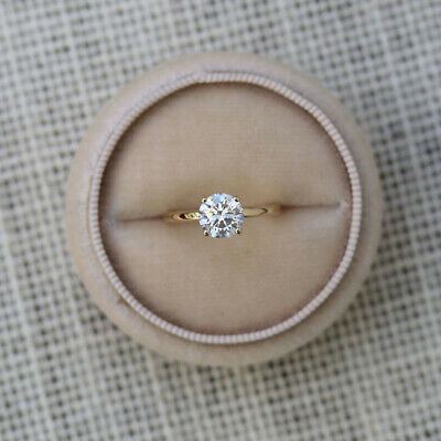 AU1735.05 • Buy Natural 0.40 Ct Round Cut Diamond Engagement Ring Solid 14K Yellow Gold Size 5 6