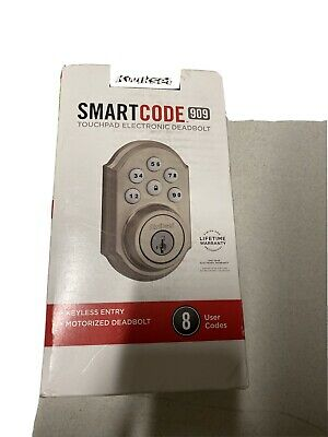 $ CDN30.38 • Buy Kwikset 99090-018 SmartCode Electronic Deadbolt - Satin Nickel1