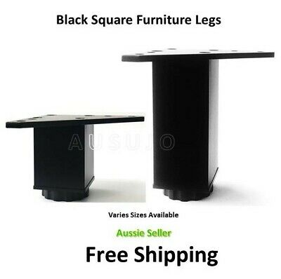 AU30 • Buy Black Furniture Legs Square Metal Kitchen Cabinet Couch Sofa Table Bed Lounge