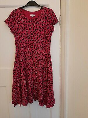 Lovely Pink Leopard Print Girl's Dress Age 12/13 With Short Sleeves • 0.99£