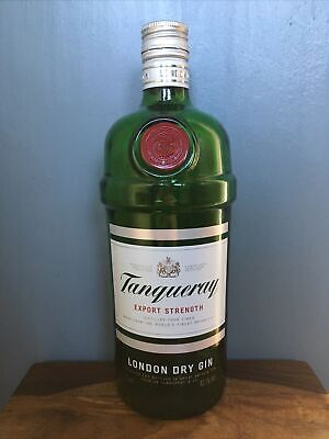 Tanqueray Empty Glass Gin Bottle Craft Collectors 1 Litre • 2£