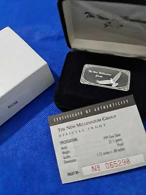 Rare Statue Of Liberty 0.999 Silver Ingot Bullion Bar 1oz Presentation Box & COA • 59.99£