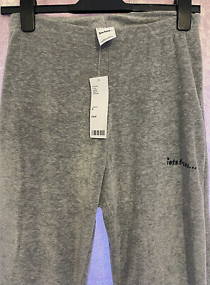 Urban Outfitters Iets Frans Flared Grey Velvet Trousers BNWT Size Medium • 20£