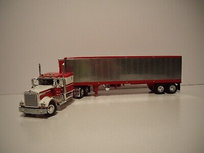 $ CDN134.18 • Buy Dcp First Gear 1/64 Red & White Kenworth W900a With Sleeper & 40' Reefer Trailer