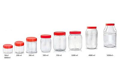 Plastic Storage Jars Containers Canisters SUNPET Pots Screw Top • 5.65£