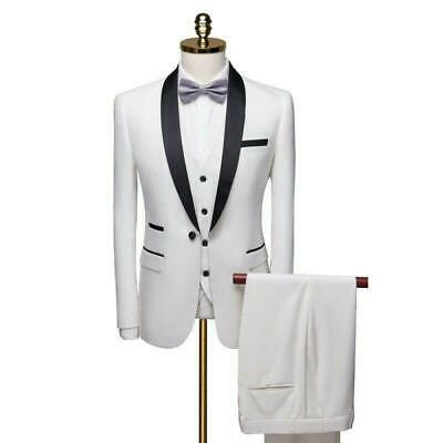$ CDN173.73 • Buy Men's Formal Dress Suit 3PCS Wedding Business Blazer Tuxedo Slim Fit Prom Jacket