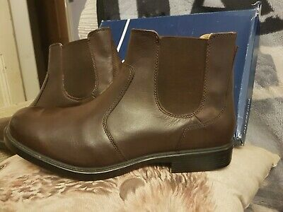 Pavers Mens Leather Chelsea Boots Size 9 • 25£