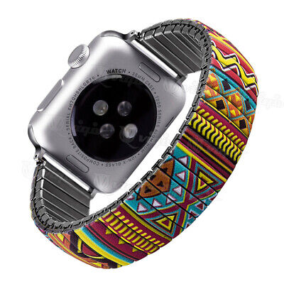 $ CDN10.39 • Buy Elastic Stainless Steel Stretch Iwatch Strap Band For Apple Watch 38 40 42 44mm