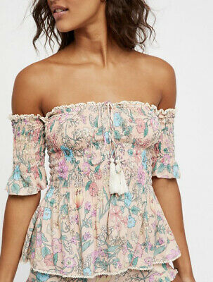 AU95 • Buy SPELL & The Gypsy Collective Sayulita Floral Stretch Rouched Cami Top XS 6-8