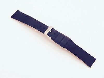 Canvas On Leather Watch Strap 18mm // Black By Geckota • 5.09£
