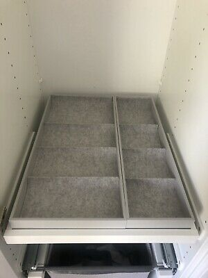 Ikea Komplement Pull Out Tray With 2 Inserts 50x58 White • 25£