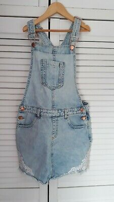 Girls Denim Playsuit/ Short Dungarees Age 12-13 Years • 5£