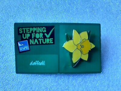 £3.50 • Buy RSPB Stepping Up For Nature Daffodil Enamel Pin Badge