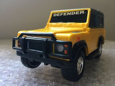 Land Rover Defender 90 Yellow Pull-String Toy - Lanard Toys - 1/32? Scale  Used • 7.15£