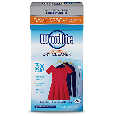 £12.36 • Buy At-Home Dry Cleaner Dry Cleaning Cloths And Stain Removal, Easy To Use, Safe On