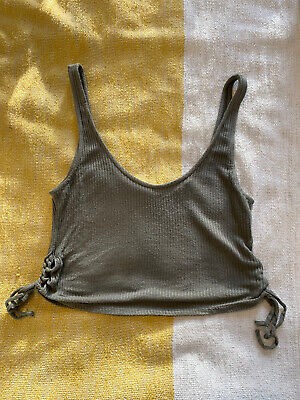 AU1.88 • Buy Urban Outfitters Khaki Crop Top Size S