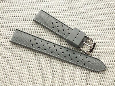 Vintage Tropic 18mm Grey Rubber Watch  Diving Strap New High Quality • 3.99£
