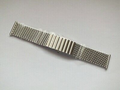 Brushed Stainless Steel Shark Mesh Butterfly Clasp Watch Strap 22mm By Geckota • 5.50£