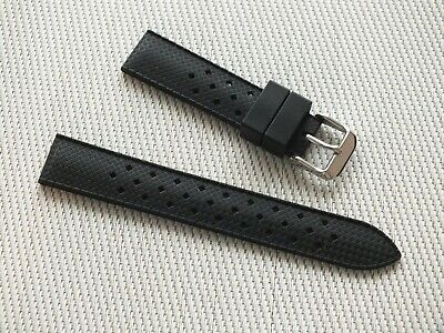Vintage Tropic 18mm Black Rubber Watch  Diving Strap New High Quality • 3.99£