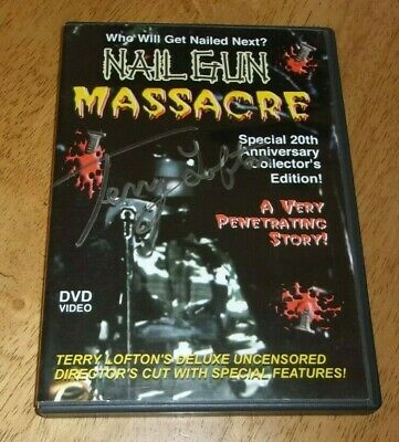 Nail Gun Massacre (DVD) Terry Lofton Signed Limited Edition OOP Rare NTSC  • 199.99£