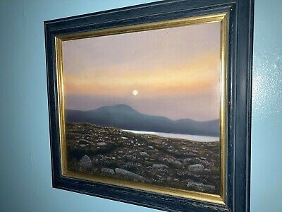 'SUNSET' By John Woodfull Pastel Large 21''x18'' Signed With Gold Gilding • 160£