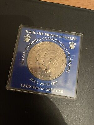 1981 Crown Coin The Royal Wedding Of Prince Charles & Lady Diana Spencer 1981 • 4.99£
