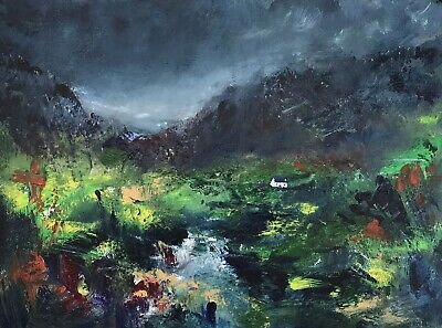 ORIGINAL PAINTING  Acrylic On Canvas 40x30cm 'Silent'Valley • 49£