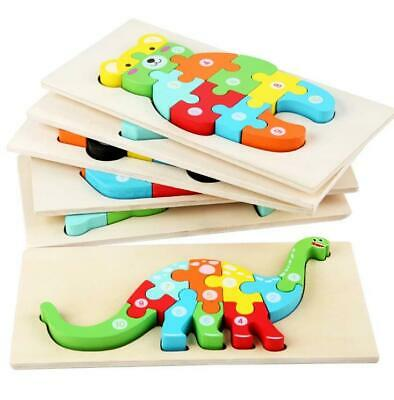 £4.49 • Buy Children Wooden 3D Jigsaw Puzzle Number Blocks Learning Education Toys Gift