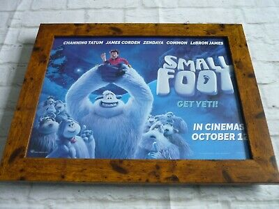 £42.99 • Buy 11by17 Framed Official Original Poster Print Smallfoot 2018 Channing Tatum
