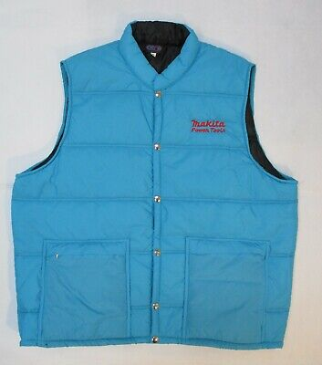 Vintage Crown Of California Makita Power Tools Blue Vest Embroidered Sz XL USA! • 31.90£
