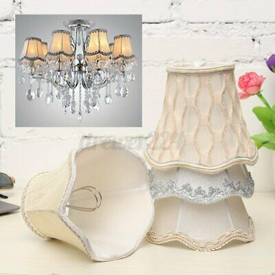 Vintage Small Lace Lamp Shades Textured Fabric Ceiling Chandelier Ligh • 11.11£