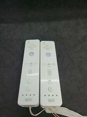 $ CDN37.98 • Buy Lot Of 2 Nintendo Wii Remote White Controllers Official Tested Working RVL-003