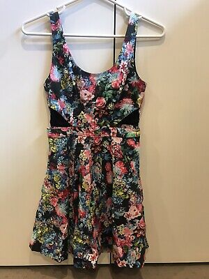 AU4 • Buy Forever New Floral Dress With Cut Outs Size 8