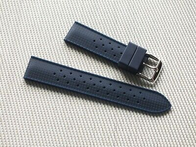 Vintage Tropic 18mm Navy Blue Rubber Watch Diving Strap New High Quality • 6.50£