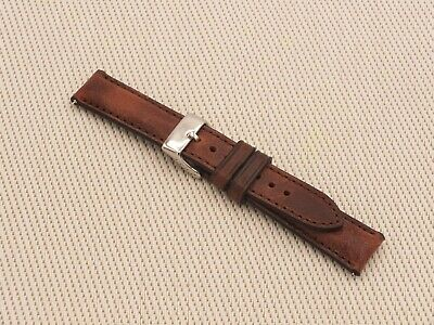 Genuine Italian Leather Padded Quick Release Watch Strap 18mm W Brown By Geckota • 6£
