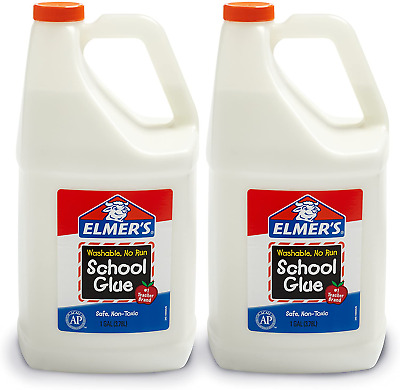 AU39.91 • Buy Elmers Liquid School Glue, Great For Making Slime, White, Washable, 1 Gallon, 2