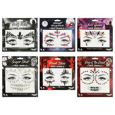 £3.99 • Buy Face Jewels By Moon Terror - Festival Face Body Gems, Crystal Make Up Stickers