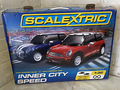 SCALEXTRIC - Mini Cooper Blue / Red Inner City Speed Boxed Set - NO POWER Lead!! • 29.95£