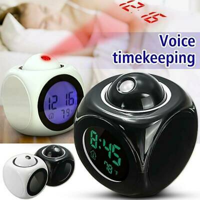 £11.99 • Buy LED Digital Alarm Clock Battery Operated Projector Wall Ceiling Projection Black