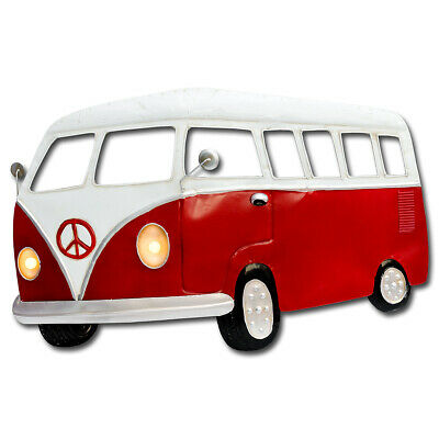 £43.50 • Buy Light Up Red Camper Van 3D Metal Wall Art