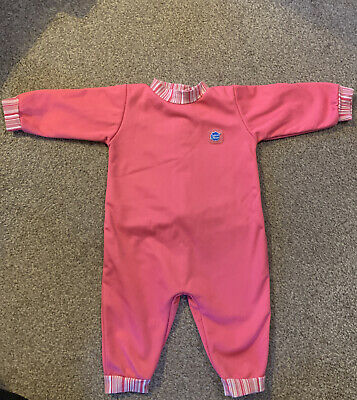 Baby Girls Pink Splash About  UPF 50+ All In One Wet  Suit Size L • 4.99£