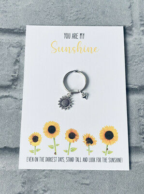 £4 • Buy You Are My Sunshine Keyring,thinking Of You Gifts,mental Health Gift,sunflower