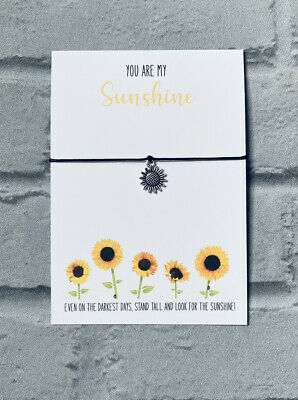 £4 • Buy You Are My Sunshine Bracelet,thinking Of You Gifts,mental Health Gift,sunflower