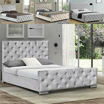Vida Designs Arabella King Size Bed, 5ft Bed Frame Upholstered Fabric Headboard • 249.99£