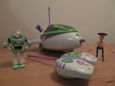 Toy Story Buzz Lightyear Remote Control Spaceship Rocket With Sounds & Lights • 10£