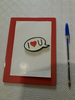 I Love You Metal Photo Frame (Red) • 1.50£